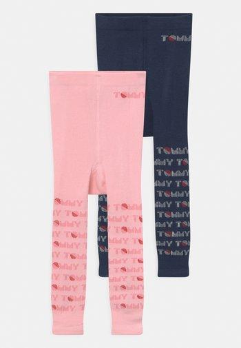 BABY 2 PACK UNISEX - Leggings - Stockings - dark blue/pink