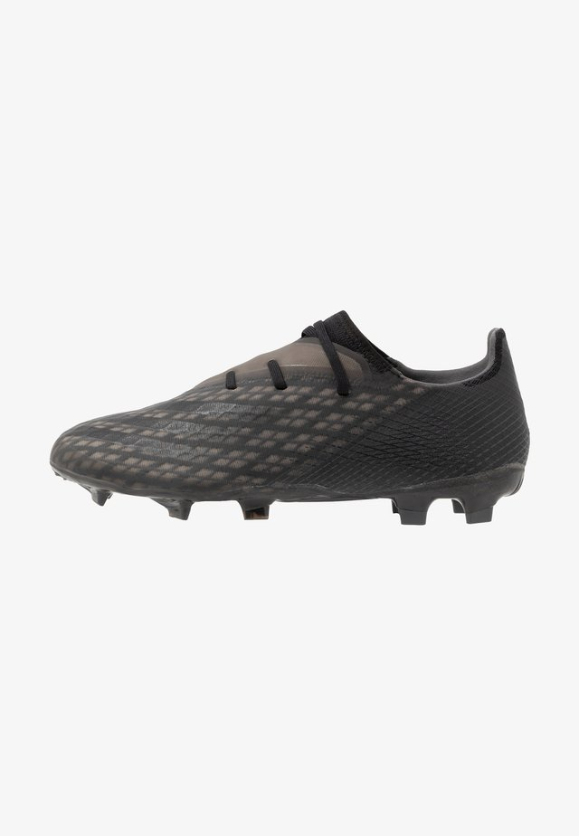 X GHOSTED.2 FOOTBALL BOOTS FIRM GROUND - Chaussures de foot à crampons - core black/grey six