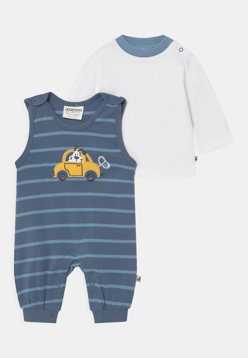 Jacky Baby - HAPPY CAR FRIENDS SET - Long sleeved top - blue/white