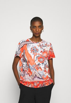 SELMARIS - Camiseta estampada - carmin