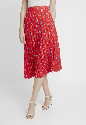 PLEATED SKIRT - A-line skirt - red
