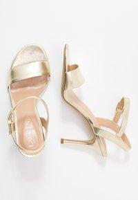Lauren Ralph Lauren - METALLIC GWEN - High heeled sandals - pale gold - 3