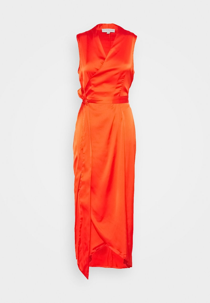 Never Fully Dressed - TANGERINE SLEEVELESS WRAP DRESS - Vestido de cóctel - tangerine