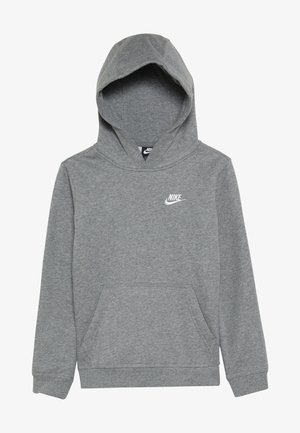 HOODIE CLUB - Hoodie - carbon heather/white
