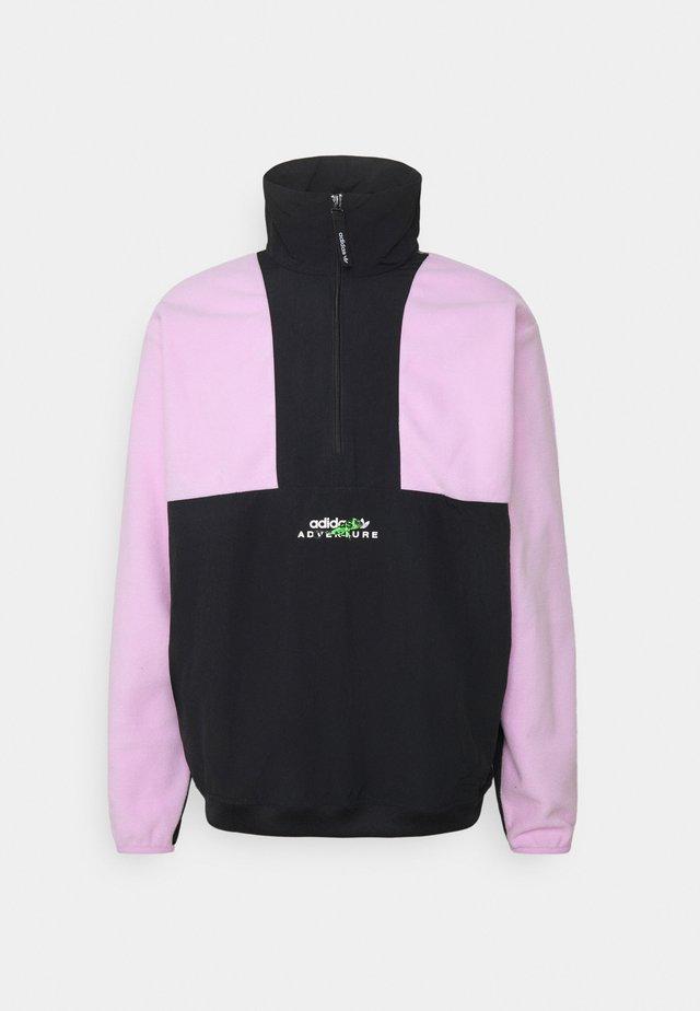 BLOCKED - Fleece jumper - clear lilac/black