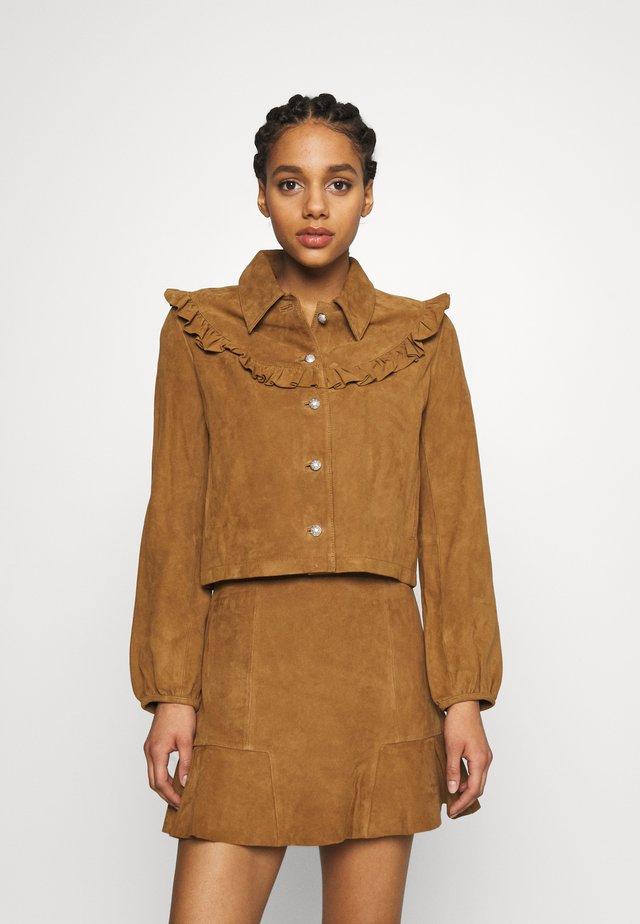 BENDRIE - Leren jas - camel