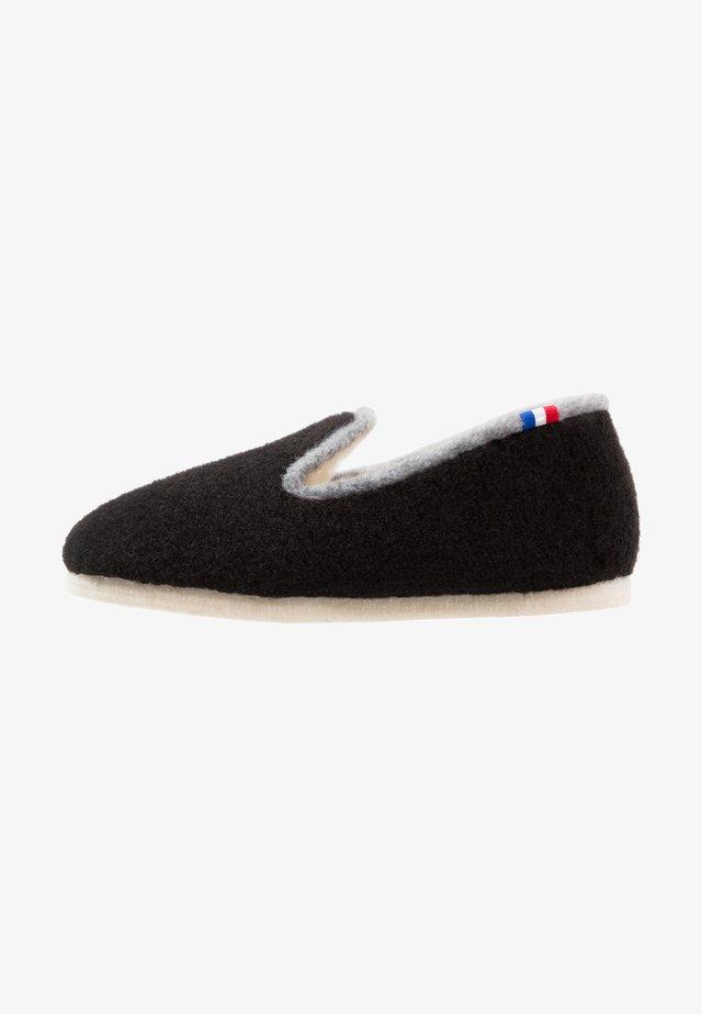 CHALET TRADITIONAL - Pantofole - noir/gris