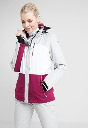 SEWIA - Ski jacket - white/berry/light grey