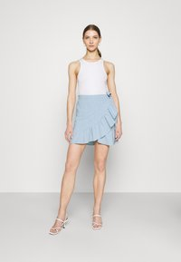 ONLY - ONLCARLY BETTI LIFE WRAP STRIP SKIRT - Wrap skirt - cloud dancer/allure - 1