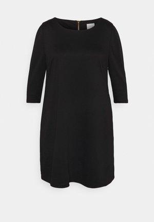 VITINNY PUFF 3/4 SLEEVE DRESS - Day dress - black