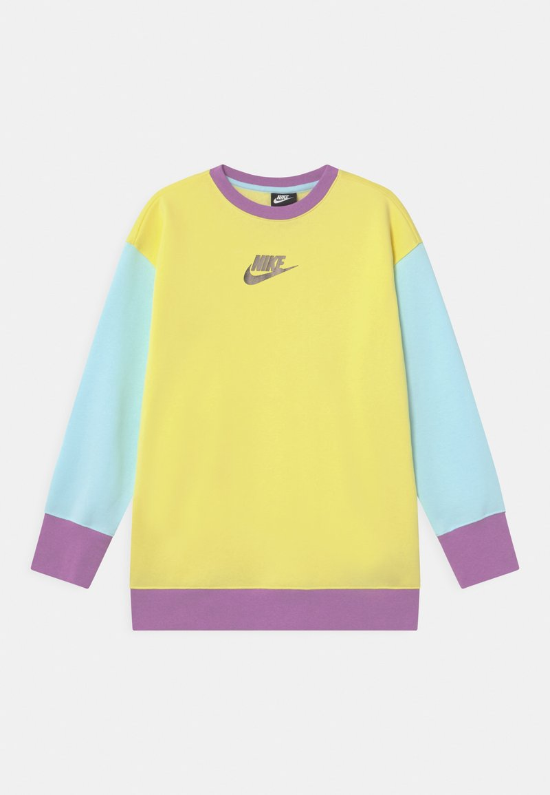 Nike Sportswear - CREW - Sudadera - zitron/glacier blue/violet shock