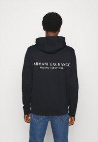 Armani Exchange - Felpa con cappuccio - navy - 2