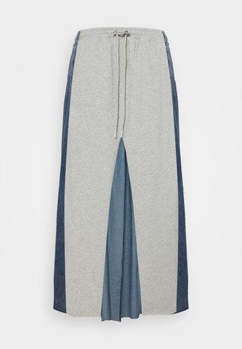 O-LE - Denim skirt - grey denim