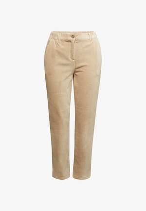 Trousers - cream beige