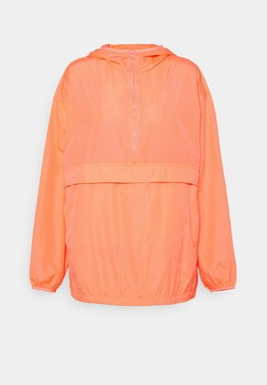 UPCYCLED PACKABLE  - Summer jacket - neon coral volt