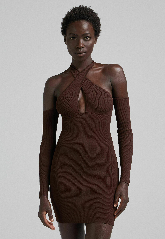 Damen IN WICKELOPTIK MIT FALLENDER SCHULTERNAHT - Cocktailkleid/festliches Kleid