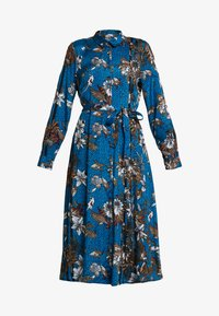 Kaffe - KADOTTI DRESS - Skjortklänning - moroccan blue - 5