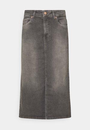 DILIN - Jeansrok - grey vintage denim
