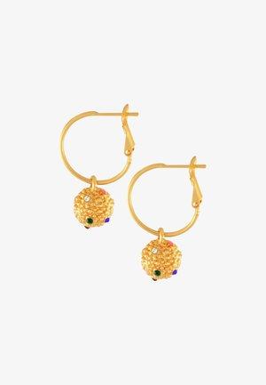 AMBER RAINBOW BALL - Earrings - gold plating