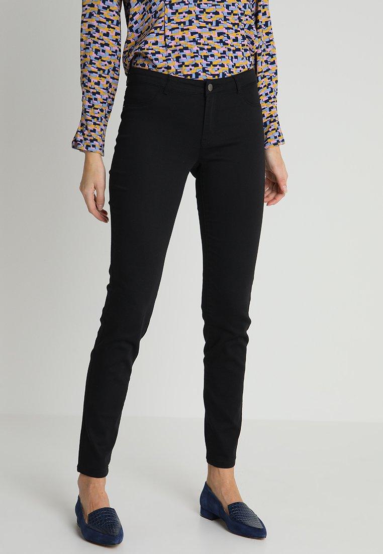 NAF NAF - POWER SKINNY - Trousers - noir