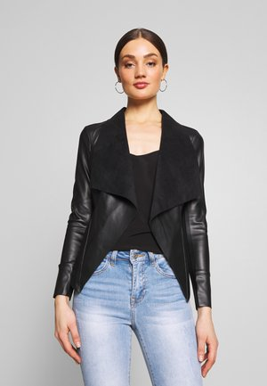 HANNAH WATERFALL - Veste en similicuir - black