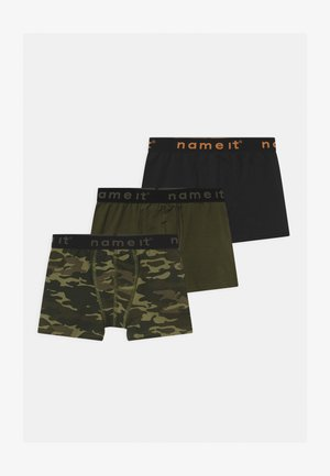 NKMBOXER 3 PACK - Pants - loden green