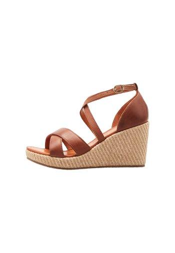Platform sandals - braun-mittel