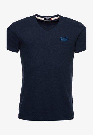 CLASSIC V-NECK - T-shirt print - midnight blue grit