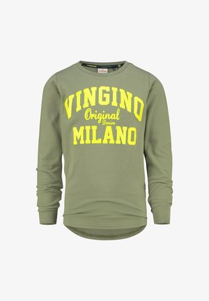 LOGO CARRIER - Long sleeved top - light army green