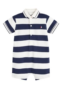 Next - 2 PACK STRIPE POLO ROMPERS - Jumpsuit - blue - 3