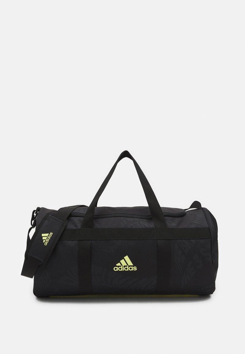 adidas Performance - UNISEX - Borsa per lo sport - black/pulse yellow