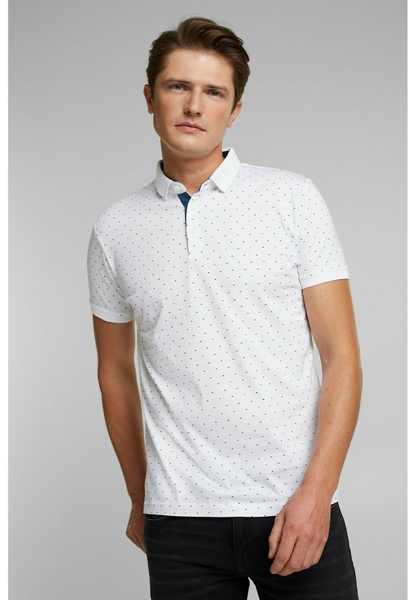 Esprit Koszulka polo - white/biały Odzież Męska MHAP