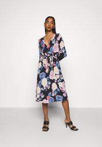 Vila - VIKITTIE DRESS - Day dress - black/blue/rose/beige - 0