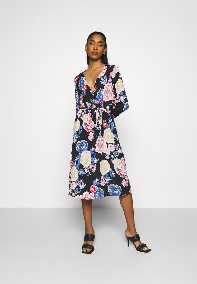 Vila - VIKITTIE DRESS - Day dress - black/blue/rose/beige