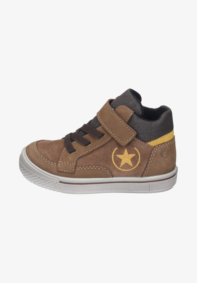 High-top trainers - caramel/kastanie/gelb
