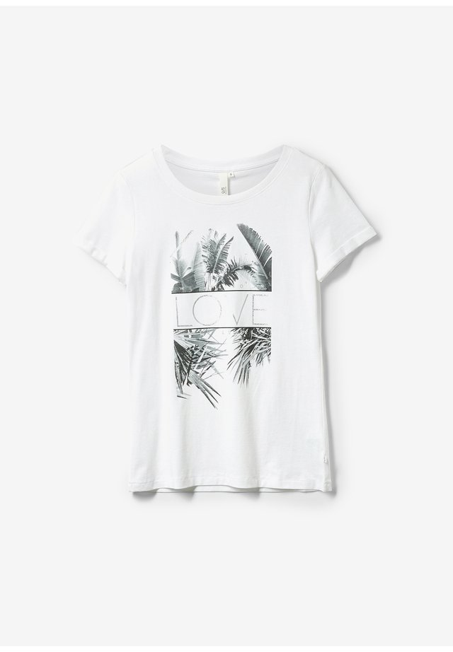 LOOSE FIT - Print T-shirt - white placed print
