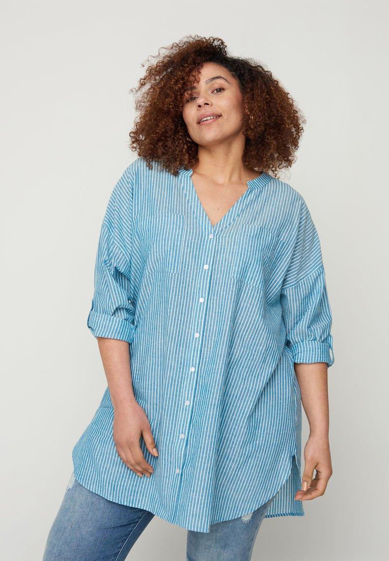 Zizzi - Blouse - blue stripe