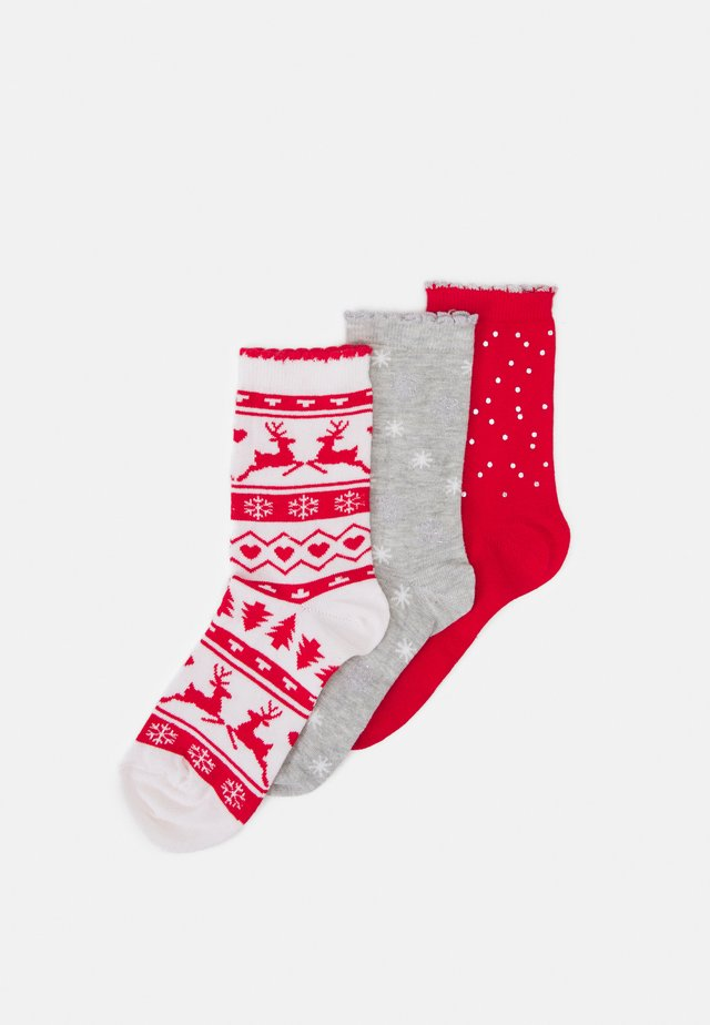 SOCKS IN A BOX 3 PACK - Sukat - red mix