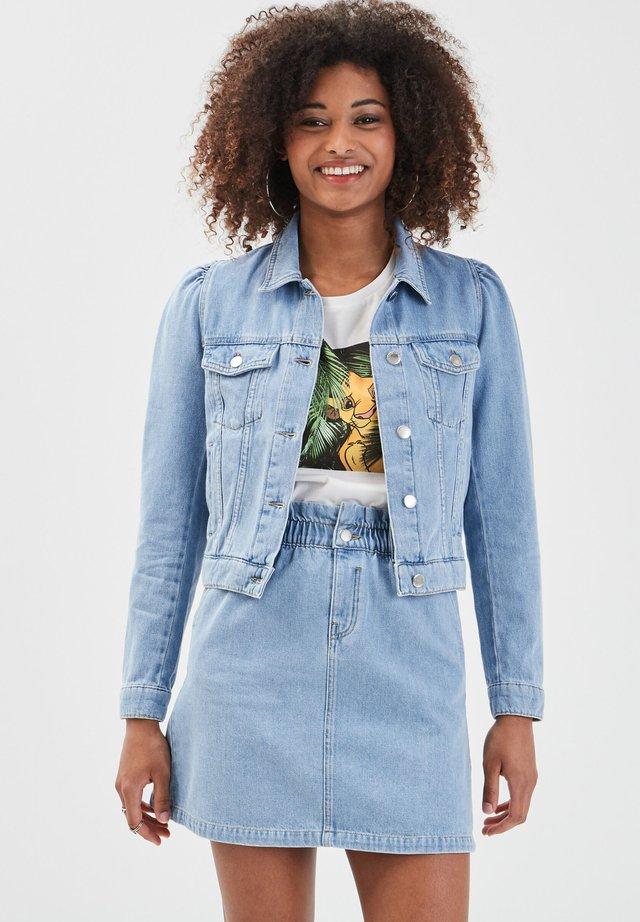 ZWANGSJACKE MIT GEKNÖPFTEM DENIM - Giacca di jeans - denim bleach