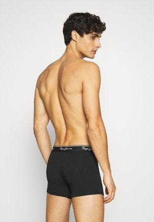 AMOS 3 PACK - Pants - black/grey/white