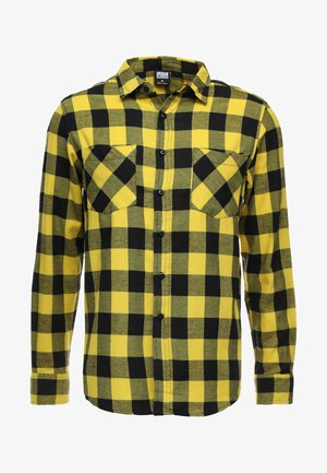 CHECKED - Shirt - yellow