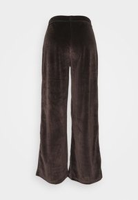 Noisy May - NMABBY LOOSE PANT - Trousers - chocolate brown - 1