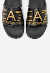 EA7 Emporio Armani - Pantofle - shiny black/gold - 4