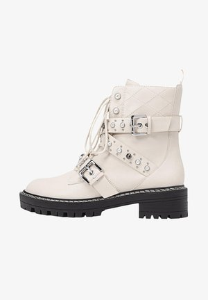Kovbojské/motorkářské boty - off-white