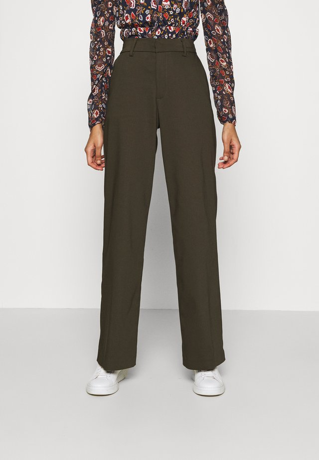 ALICE WIDE PANT  - Pantaloni - army