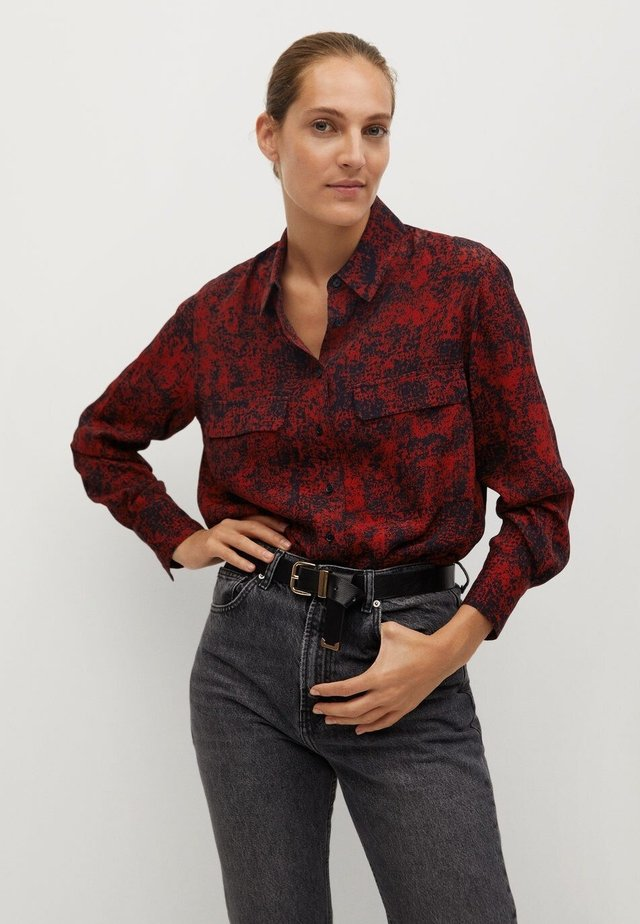 LULU - Button-down blouse - rouge