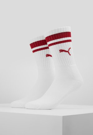CREW HERITAGE STRIPE  2 PACK - Skarpety - white/ribbon red