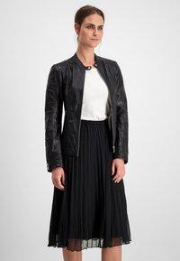 Milestone - Leather jacket - schwarz - 0