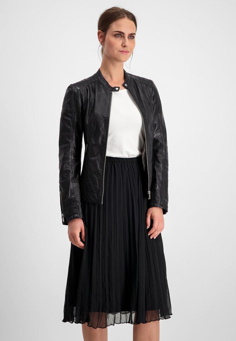 Milestone - Leather jacket - schwarz