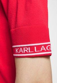 KARL LAGERFELD - PUFF LOGO - Print T-shirt - tangerine - 7